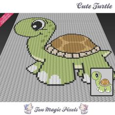 Looking for your next project? You're going to love Cute Turtle C2C Graph by designer TwoMagicPixels.