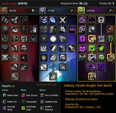 Unholy Death Knight PvP Build #warcraft #pvp