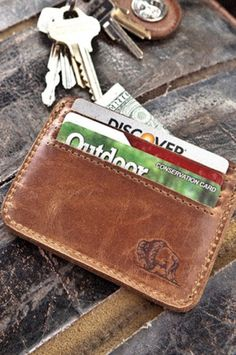 The Simple Man's Wallet - Whiskey Leather