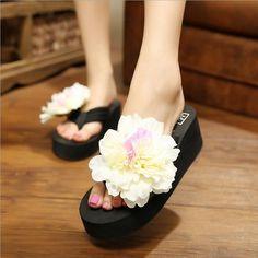 Summer Lady's Flowers Sandals Sexy Casual Fashion Female Beach Flip Flops Women Slipper Home