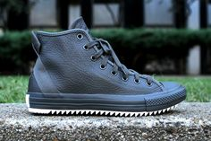 Hipster Leather Sneakers - The Converse Chuck Taylor Hollis Hi Mixes Finesse and Streetwear (GALLERY) Chuck Taylor Boots, Converse Chuck Taylor All Star, Chuck Taylor Sneakers, Leather Sneakers, All Black Sneakers, High Top Sneakers, Men's Sneakers, Converse Shoes, Men's Shoes