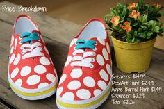 Tutorial - Kate Spade Keds Knock-offs. I would go with a cheaper shoe to start.