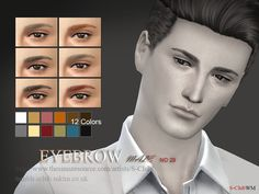 Eyebrows 29 M by S-Club WM at TSR • Sims 4 Updates