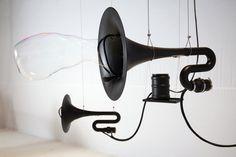 "Thom Kubli's work ""Black Hole Horizon"" turns sounds into three-dimensional objects."