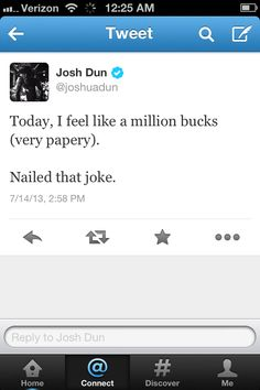 josh dun. he can nail any joke. because he's JOSH DUN. end of story. arguments invalid.