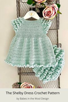 This crochet pattern is suitable for beginners and is part of a collection of modern crochet patterns for babies and children.. available for instant download today #crochet #crochetbaby #crochetpattern #moderncrochet #babycrochet #crochetforbaby Crochet Baby Dress Pattern, Crochet Baby Clothes, Modern Crochet Patterns, Baby Patterns, Crochet Summer Tops, Crochet Top, Baby Cardigan, 6 Years, Dresses