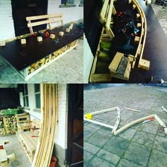 Pallet wood gothic arch bending try out