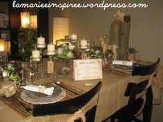 Décoration de table de mariage thème hiver, gamme esprit grand nord.  Retrouver-la sur mon blog décoration de mariage lamariieinspiree.wordpress.com et sur http://www.alittlemarket.com/boutique/la_mariee_inspiree-824361.html