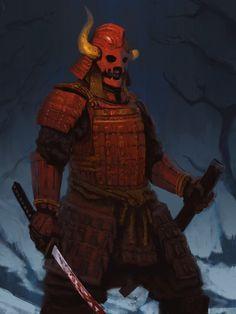 the sadistic samurai commission by EdwardDelandreArt