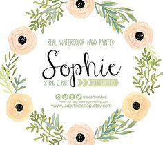Watercolor clipart,  Floral Frame PNG, wedding bouquet, arrangement, bouquet, digital paper, blue flowers, bridal shower, for blog banner