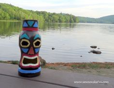 Coffee Container Tiki Statues | Hometalk