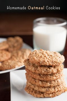 These easy homemade quaker oats Oatmeal Cookies have become an instant classic in our house. No raisins. No chocolate chips. Just simple goodness!
