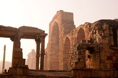 The image of Qutub Minar comes to mind every time one thinks of Delhi, Theatrical effects aside, conversations between Qutubuddin-aibak and a little girl wandering through the ruins in the audio guide work well in transporting you to a different time. Dialogues from a bygone era, the magical light of an early winter morning, quiet ruins that allow you to linger for as long as you want—all helped in recreating scenes from centuries ago.