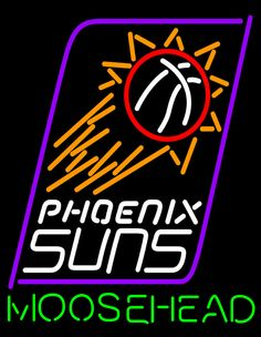 Moosehead Phoenix Suns NBA Neon Beer Sign, Moosehead with NBA Neon Signs | Beer with Sports Signs. Makes a great gift. High impact, eye catching, real glass tube neon sign. In stock. Ships in 5 days or less. Brand New Indoor Neon Sign. Neon Tube thickness is 9MM. All Neon Signs have 1 year warranty and 0% breakage guarantee.