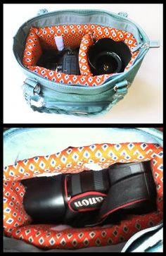 Invest in some of our colourful fabric and turn an old handbag into a camera bag. Say Cheeeesssseeeee!