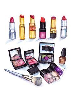 Makeup watercolor.