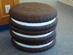 "Americas favorite cookie stacked three high! A great addition to any familys game room or kids corner. At 17"" high its a perfect seat even if it is a bit much to eat!"