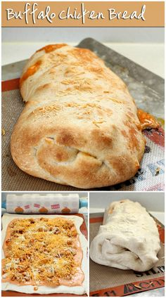 Buffalo Chicken Bread is easy to make at home & better than take-out! | Persnickety Plates