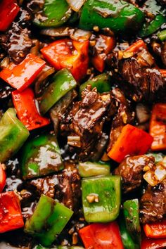 Garlic Lovers Pepper Steak Stir Fry (and meal prep!) Pang Thao Garlic Lovers Pepper Steak Stir Fry (and meal prep!) Garlic Lovers Pepper Steak Stir Fry – An easy Stir Fry recipe that's better than take out! Loaded with peppers, onions, steak, and sauce. Steak Stirfry Recipes, Beef Steak Recipes, Beef Recipes For Dinner, Stir Fry Recipes, Meat Recipes, Asian Recipes, Cooking Recipes, Bbq Beef Tips Recipe, Healthy Foods