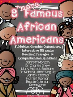 Are you ready for February and Black History Month?  Take the load of with these reading passages, comprehension questions, interactive NB pages, mini foldable books, etc.  8 More Famous African Americans... blog post here :)