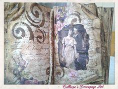Πως κάνω σκλήρυνση ενός βιβλίου με την τεχνική decoupage;   Calliope's Decoupage Art