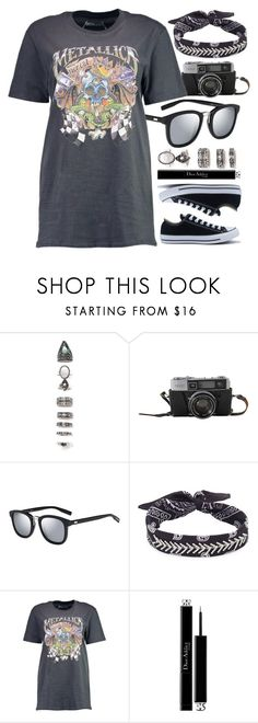 """Everyday Look"" by smartbuyglasses-uk ❤ liked on Polyvore featuring Nasty Gal, Fallon, Boohoo, Christian Dior, Converse, black and gray"