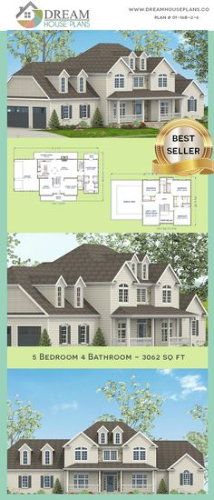 house plan with basement. We custom design of home plans & house blueprints. Choose from our exclusive collection of uniqu Simple House Plans, Country House Plans, Dream House Plans, Floor Plan 4 Bedroom, Basement House Plans, House Blueprints, Dream House Exterior, Story House, Southern Living