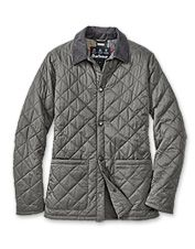 The refined Barbour® Pembroke quilted jacket for men promises lightweight seasonal protection.