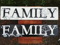 Hand Painted Wood Family Sign by KLKDesignsLLC on Etsy
