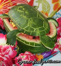 Now that's creative! A turtle water melon!