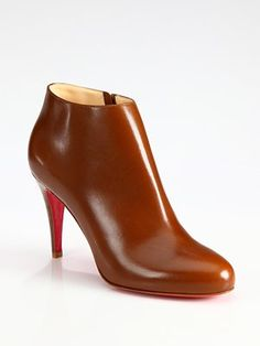 Christian Louboutin - Leather Ankle Boots - Saks.com