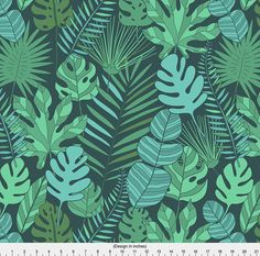 Tropical Botanical Fabric Tropical Plantation By