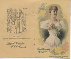 Worcester Corset Co. pamphlet for the 1893 World's Columbian Exposition