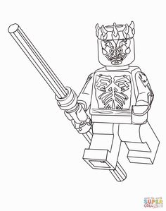 lego darth maul coloring page