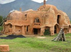Cob houses. This is a real Barbapapa's house