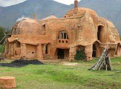 Cob houses. This is a real Barbapapa's house
