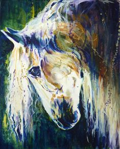 Mardi Gras Horse Art Print by Maure Bausch by twopoots on Etsy, $12.50