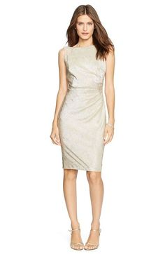 Lauren Ralph Lauren Beaded Metallic Knit Sheath Dress available at #Nordstrom