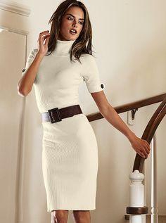 Belt with sweater dress