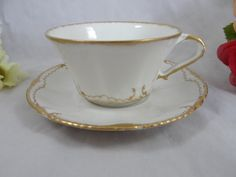 1900s Theordore Haviland Limoges Gold and White by SecondWindShop, $30.00