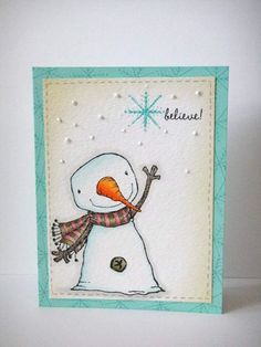 Christmas card by Donna Mikasa. Stacey Yacula Studio stamps by Purple Onion Designs.