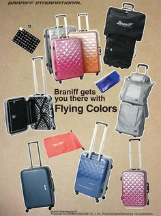 Braniff international suitcase collection  By TRIO Corporation