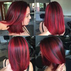Episode for more! Kiara Mercedes - All For Hair Color Balayage Pretty Hair Color, Red Hair Color, Purple Hair, Ombre Hair, Hair Colors, Pelo Color Borgoña, Multicolored Hair, Pinterest Hair, Love Hair