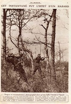 WWI: photo taken at the exact moment the target is hit by a bullet. Le Miroir 9 May 1915. -Press/Journalism (France) | International Encyclopedia of the First World War (WW1)