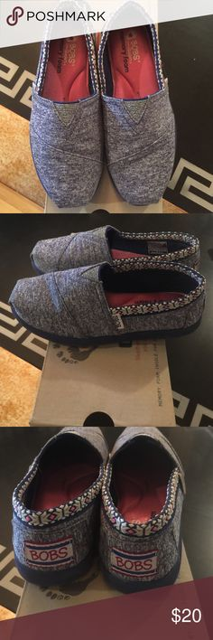 Bobs Lil Bobs for sketchers memory foam blue slip on. Bob's Shoes