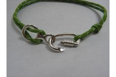Bracelet for Rock Climbers with Sterling Silver Carabiner and Figure Eight Belaying Device. The bracelet is made from 2 mm Climbing Cord Climbing Holds, Rock Climbing, Climbing Earrings, Climbing Carabiner, Escalade, Cord Bracelets, Climbers, Parachute Cord, Bouldering