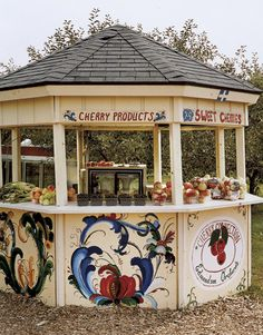Cherry farm stand, Michigan