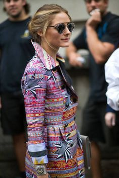 Olivia Palermo and the technicolor dream coat