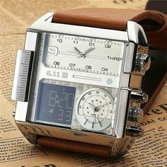 Watches for men - Dexter Square Military Big Face Infantry Digital Watch Men's Watches, Cool Watches, Fashion Watches, Men's Fashion, Analog Watches, Casual Watches, Luxury Fashion, Mens Watches For Sale, Luxury Watches For Men