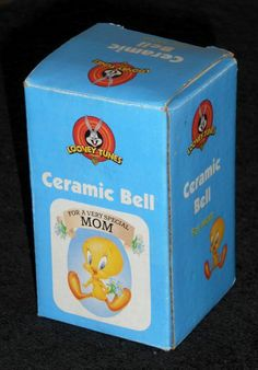Tweety Pie Bird Ceramic Bell For A Very Special Mom Looney Tunes Warner Bros 2000 $7.50
